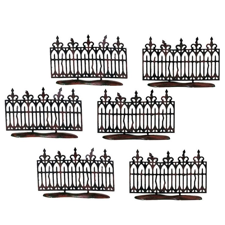 department 56 halloween village spooky wrought iron fence accessories 5652982