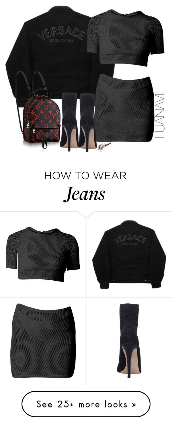 """""""Jeans Couture"""" by luanavii on Polyvore featuring Versace Jeans Couture and Gianvito Rossi"""