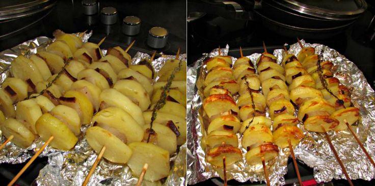 Letná grilovačka sa určite nezaobíde bez prípravy špízov. Či už ide o mäsové alebo zeleninové, do každej alternatívy môžete pridať zemiaky. Pri výbere zemiakov dajte prednosť odrode s červenou šupkou, pretože si počas pečenia zachovajú svoj tvar. Čo sa týka špajlí, môžete použiť tie z obchodu, alebo si ich vyrobiť z konárikov čerešne, jablone či malín – dodajú jedlu skvelú