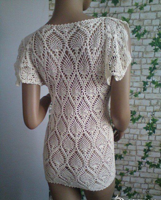 58 Best Crochet Blouses Pineapple Images On Pinterest Crochet