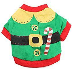Haogo Pet Puppy Christmas Tshirt Small Dog Pet Clothes Vest T-Shirt Costume Green