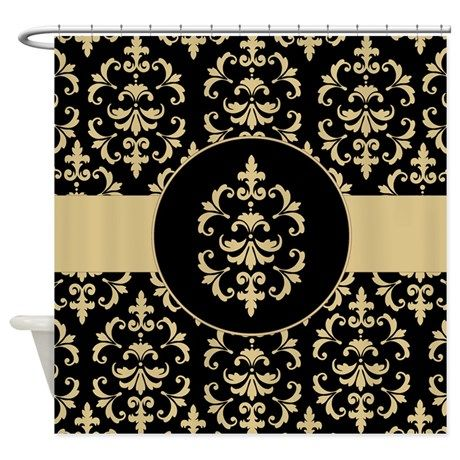 15 best Black and Gold Bathroom images on Pinterest Black and Gold Damask Shower Curtain on CafePress com. Black And Gold Bathroom Rugs. Home Design Ideas