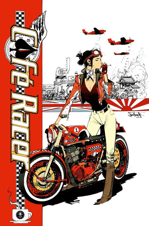Cafe Racer Sean Murphy ✤ || CHARACTER DESIGN ILLUSTRATION  | キャラクターデザイン