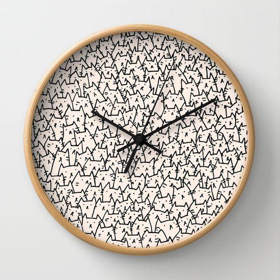 A Lot of Cats Wall Clock