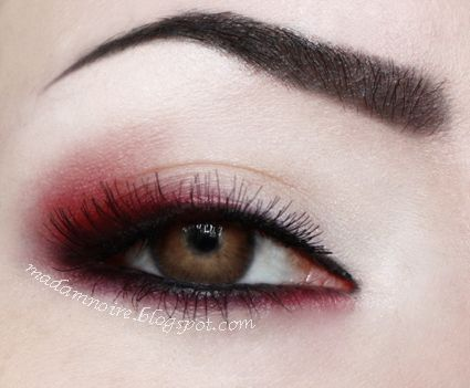 Red shadow – Makeup Geek: eye shadows- burlesque, corrupt, ice queen, white lies
