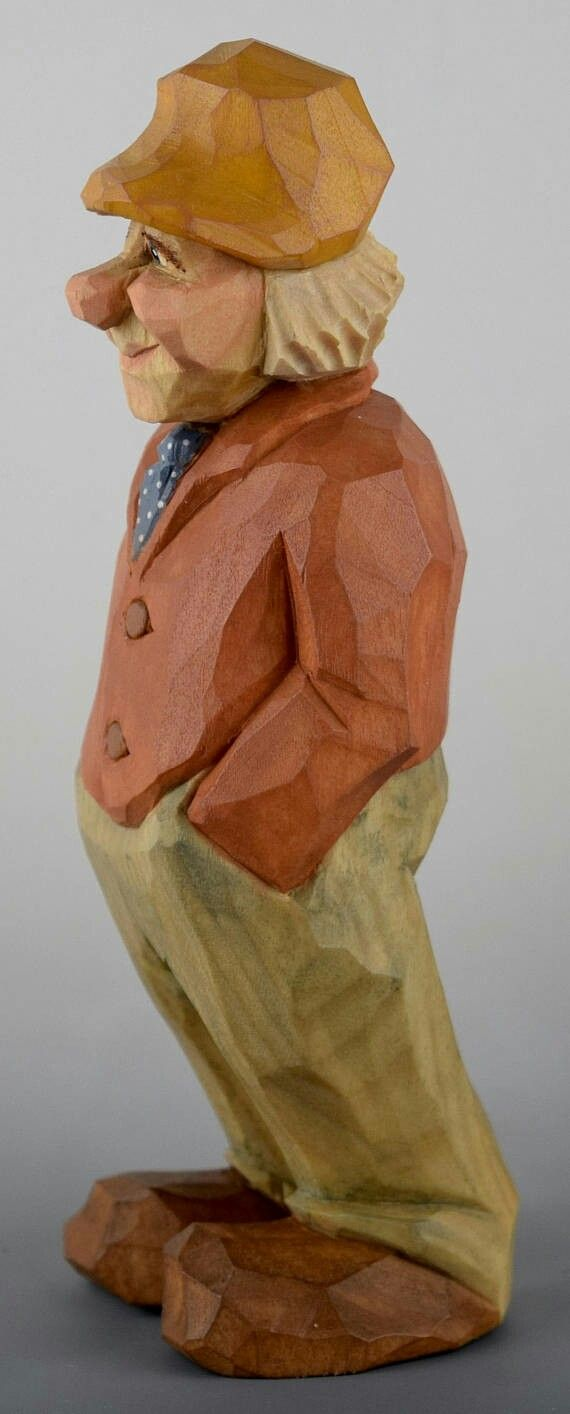 best little people images on pinterest carved wood tree