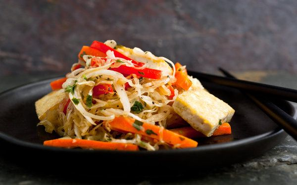 Stir-Fried Tofu With Cabbage, Carrots and Red Peppers — Recipes for ...