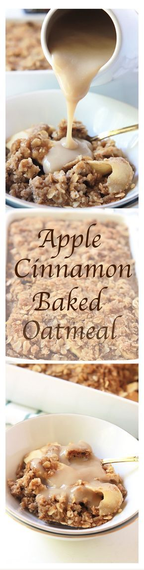 Apples, cinnamon and brown sugar! Flavors that filled my favorite childhood breakfast, stove-top oatmeal. Today these same flavors are part of my favorite make ahead breakfast, Apple Cinnamon Baked Oatmeal.