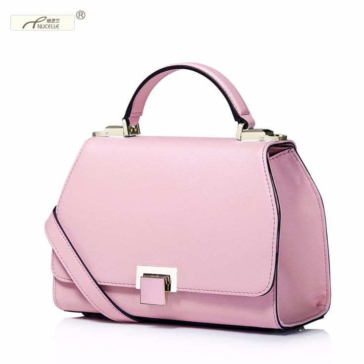 Nucelle Wholesale,Fashoin Genuine Cow Leather With Lock Handbag Shoulder Flap Bags For Women Ladies
