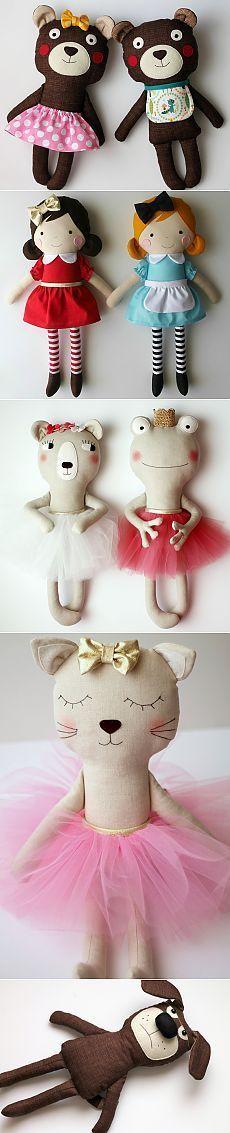 Тряпичные куклы и игрушки от Anabela Félix