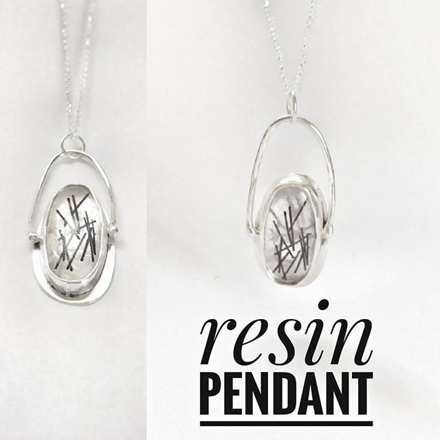 Sterling silver & resin pendant  #handmade#pendant#sterling#silver#rutilated#effect#resin#jewelry#fashion#beautiful#design#greekdesigners#jewellery#bench#project#new#entry#