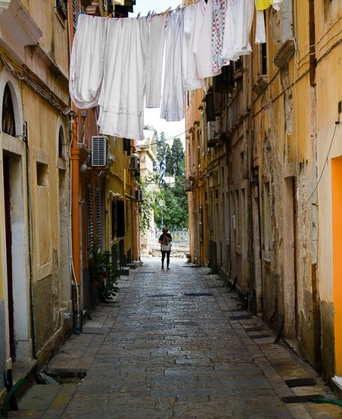 Washing day, Corfu Town