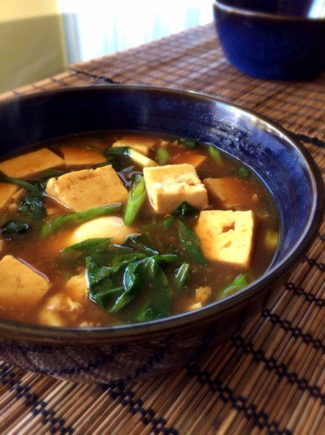 あったまる♡豆腐のカレースープ ☆ピックアップ&100人話題入り 大感謝☆ めんつゆと市販のルーで簡単♪肉なし油なし炭水化物なしなのでダイエットにも!