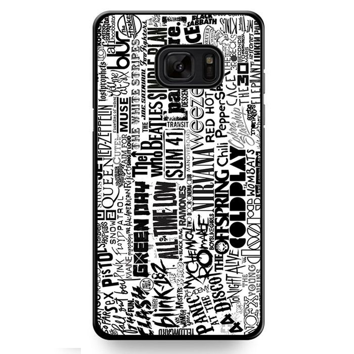 All Band Pop Rock Memorable Collage TATUM-594 Samsung Phonecase Cover For Samsung Galaxy Note 7
