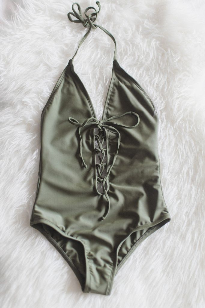 Olive One Piece Swimsuit – Love Street