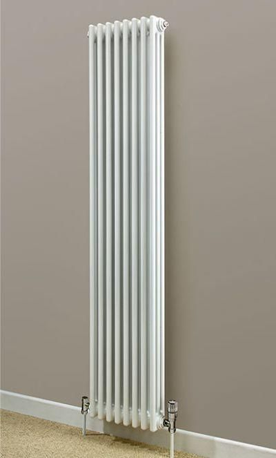 Cheshire Radiators Kingsley 2 Column Vertical Steel Radiator in white Cast Iron Radiators - Period Radiators, Traditional Radiators, Designer Radiators, Contemporary Radiators, Modern Radiators UK
