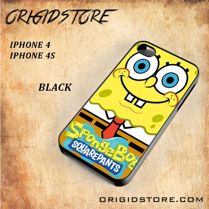 Spongebob Squarepants Smile So Cute For Iphone 4/4S Snap On and 3D Case