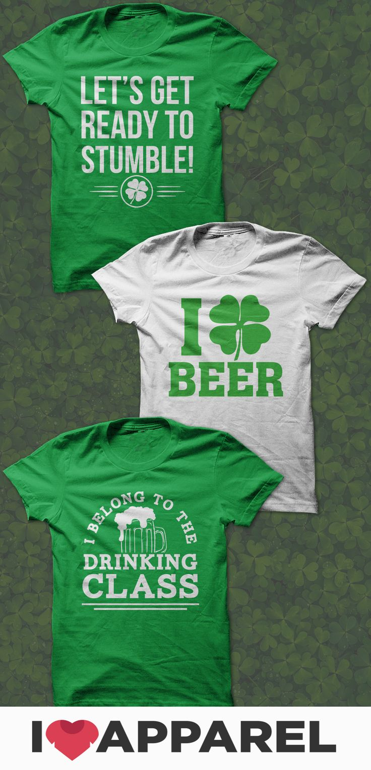 Free shipping on 2+ items in the USA! St. Patrick's Day - Shamrocks and Beer - Kiss Me I'm Irish - All found at I Love Apparel