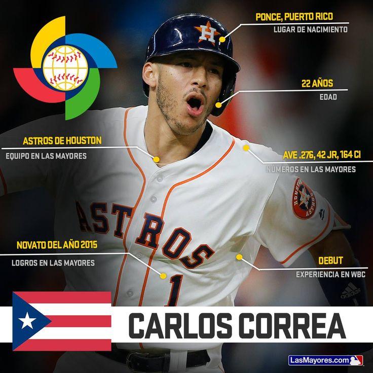 Carlos Correa (Puerto Rico) World Baseball Classic 2017.
