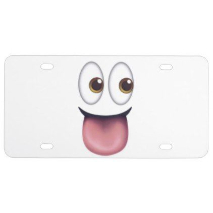 Funny Face Front License Plate - create your own personalize