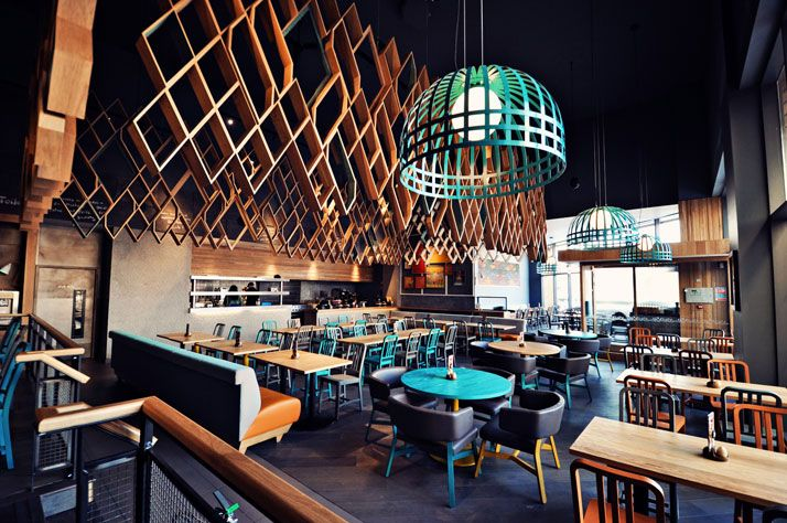 Nando's restaurant in Kent, England. Designed by Blacksheep