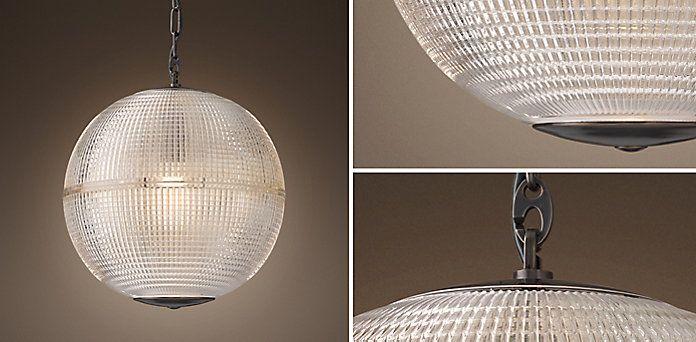Prismatic Globe Pendant - Bronze | RH