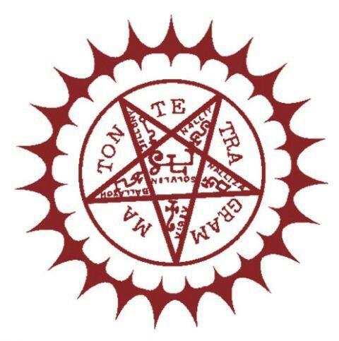 Black butler- Pentagram ( the proof of the contract between Ciel of Pantonhive and Sebastion Michalas )