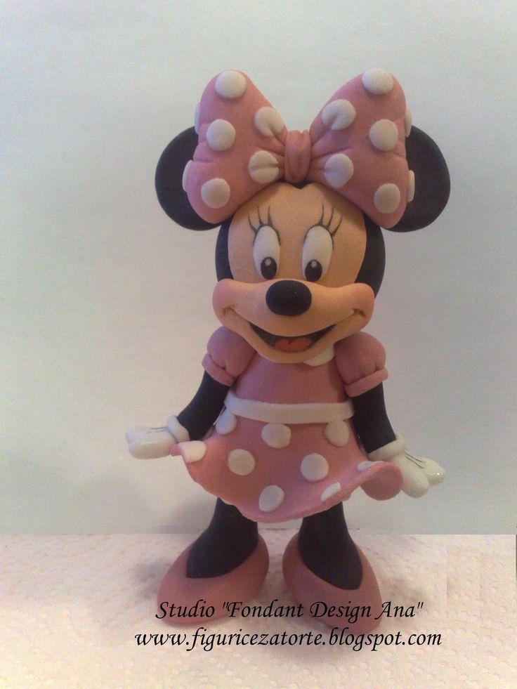 "Studio ""FONDANT DESIGN ANA"" - Figurice za torte (fondant figures): Miki i Mini Maus (Mickey&Minnie Mouse)"