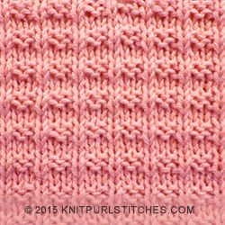 Easy to follow and suitable for beginners. The Ridge Rib stitch is a combination of knit, purl stitches | knitpurlstitches.com