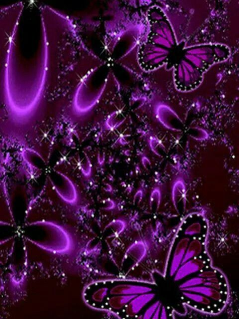 ...purple and butterflies . . . .