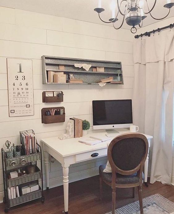 Tips For Redecorating Your Home Office: 41 Cool Farmhouse Decorating Ideas For Your Home Office