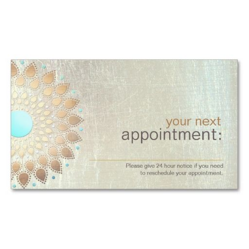 Gold Lotus Salon and Spa Appointment Card Business Card Template. This great business card design is available for customization. All text style, colors, sizes can be modified to fit your needs. Just click the image to learn more!