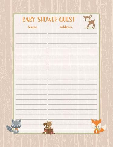 69 best Baby Shower Decorations \ Favors images on Pinterest - free printable baby shower guest list