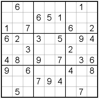 Free Sudoku Puzzles - Easy Sudoku Puzzle #01