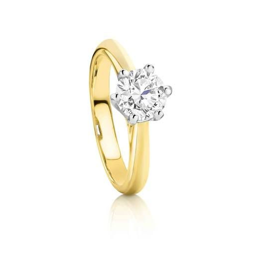 Stunning 1.00ct Diamond Solitaire set in 18ct Yellow Gold is the sparkling perfection your love deserves.