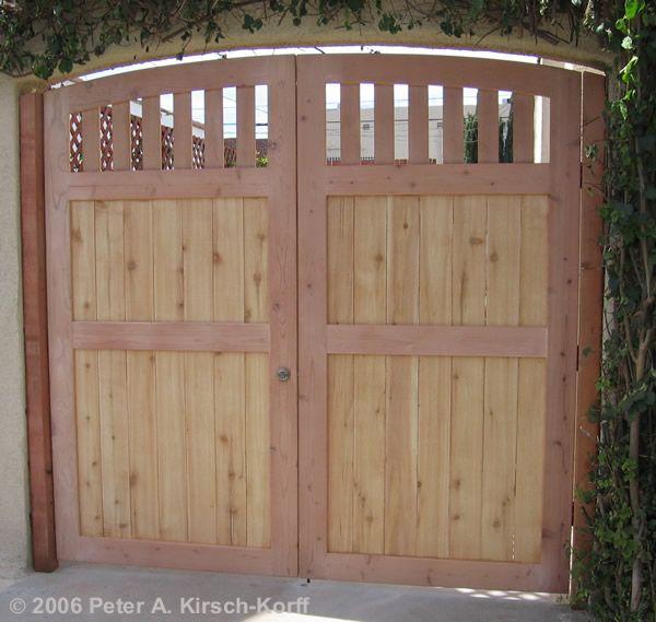 Spanish Bungalow Arched Driveway Gates