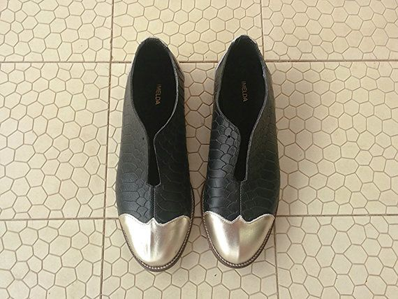 Sale 30% off Black Oxford flat shoes Black and by ImeldaShoes
