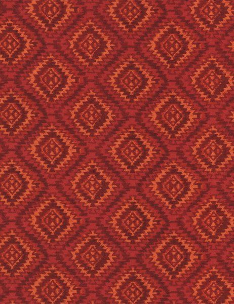 Southwestern Fabric, Oasis by Timeless Treasures, Southwest Print, Oasis, Indian Fabric, Red Fabric, 10071
