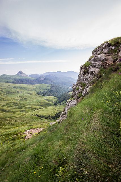 Monts du Cantal, France #cantal #auvergne #massifcantalien
