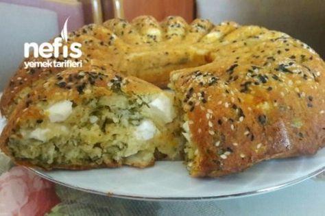 Börek Tadında Peynirli Tuzlu Kek Tarifi