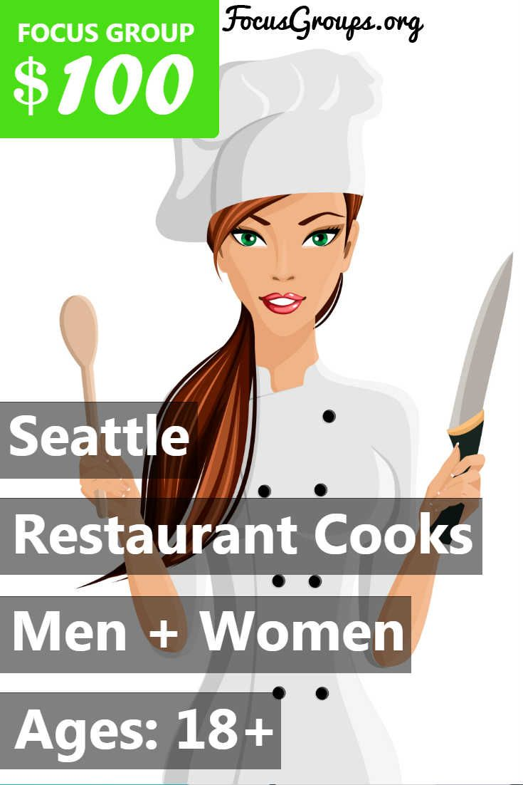 """**Restaurant Cooks Needed!** Fieldwork Seattle Inc. is looking for restaurant workers that are involved with making/mixing the baked goods that are served at your location. If you are interested in participating, please sign up and take the survey to see if you qualify or give us a call at (425) 822-8900 and reference the """"Brownies"""" study for more information! Sessions will be taking place in Tukwila on 2/26 OR 2/27 for 30 minutes. Participants will receive $100 Prepaid Visa Card."""