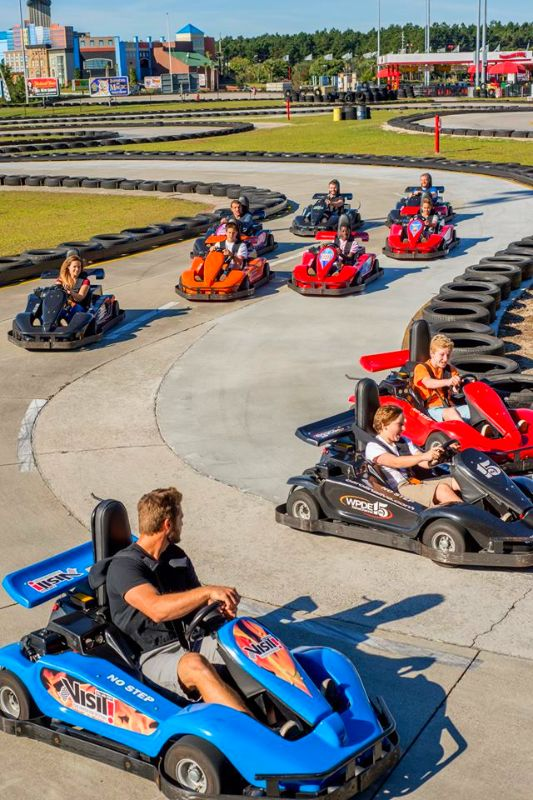 Broadway Grand Prix in Myrtle Beach. SC is now open for the season and there is something for everyone!  7 - Go-Kart Tracks, Mini Golf, Kiddie Rides, an Arcade, Snack Bar and more!  See you at the track!  (Click on the pin for other amusements and attractions)
