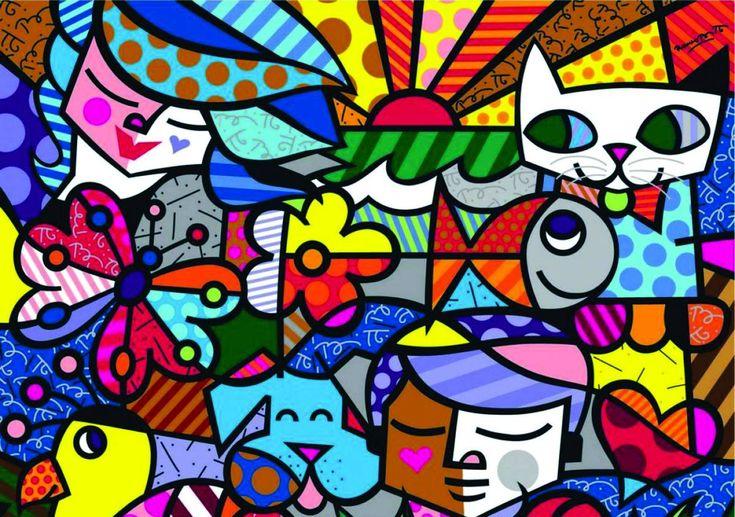 Romero Britto e la sua arte neo-pop tra graffiti, quadri e oggetti ...