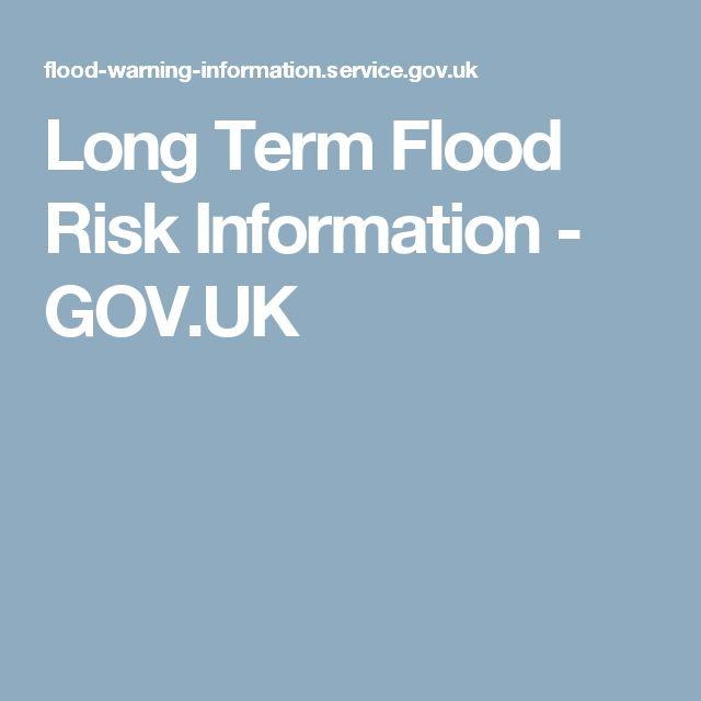 Long Term Flood Risk Information - GOV.UK