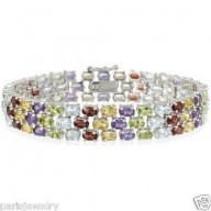 Paris Jewelry 60 Carat Genuine Ruby, Peridot, Citrine, Topaz, Amethyst $215