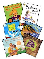 Has lists of picture books for each 6 trait, summarizing, predicting, questioning, visualizing, and inferring broken up into k-2 and 3-5
