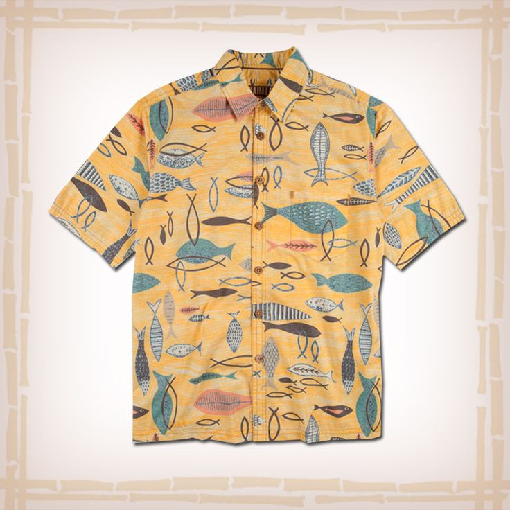 62 best images about kahala hawaiian shirts on pinterest for Fish hawaiian shirt