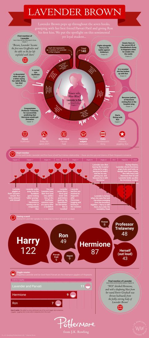 Lavender Brown Infographic