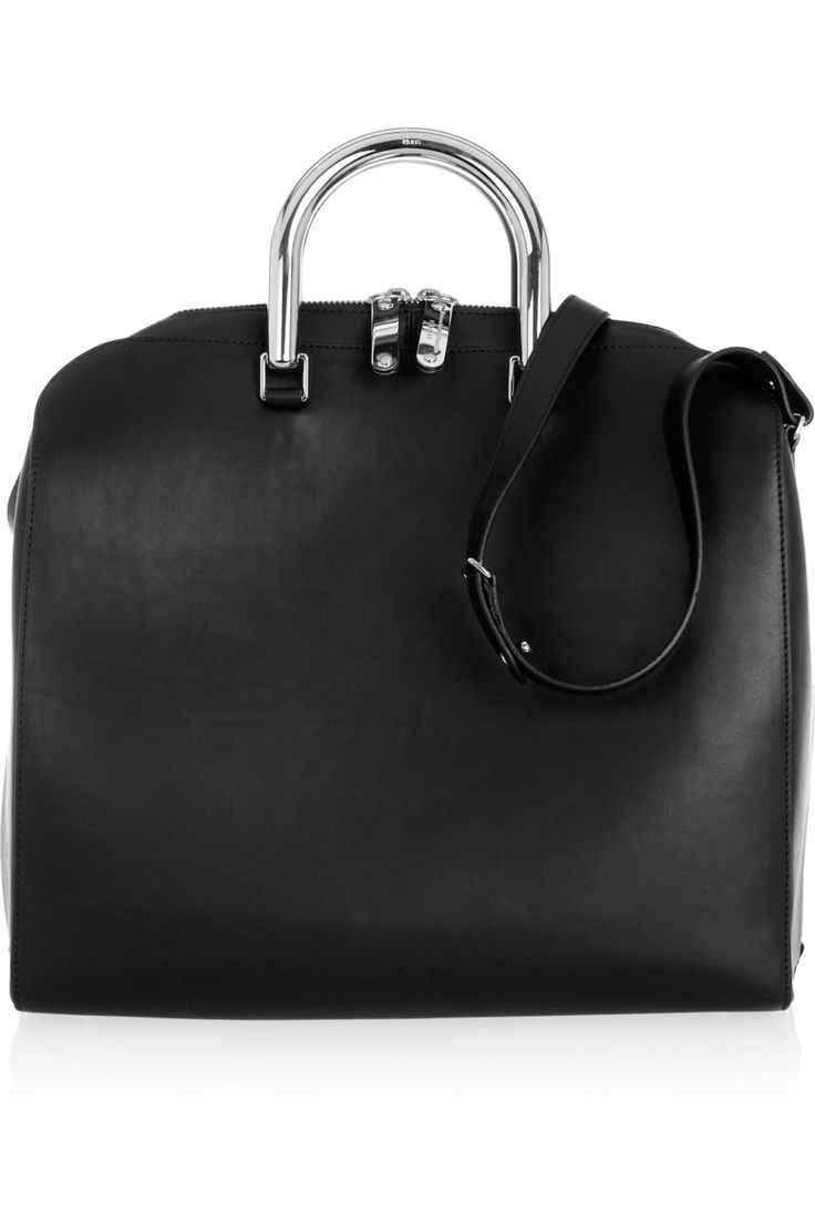 Maison Martin Margiela | Chrome-handle leather tote  |