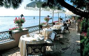 I want to sit here in the afternoon on a Friday before dinner -- Hotel Cipriani, Venice, Italy, Restaurant
